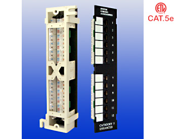 Cat.5e Mini Patch Panel : Cat.5e 12 Ports